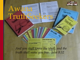 Awana Cards - Sunrise Baptist Church