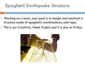 Spaghetti Earthquake Structure