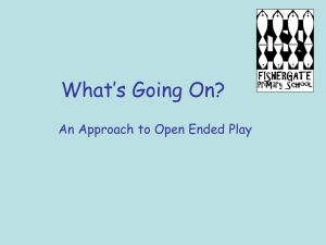What`s going on? An open-ended approach to outdoor play