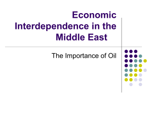 Economic Interdependence in the Middle East