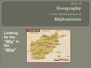 Role of Geography in the development of Afghanistan
