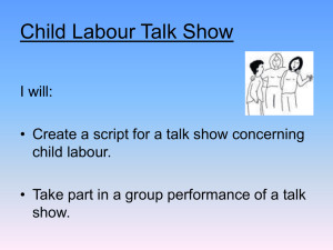 Child Labour Talk Show