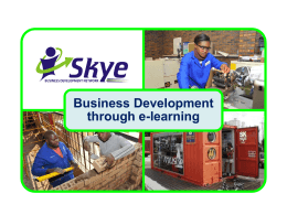 Presentation - Skye Business Development Network