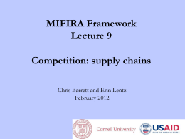 9 Competition - supply chains