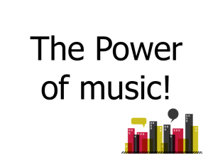The Power of music! - National Literacy Trust