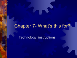 Chapter 7- What`s this for?