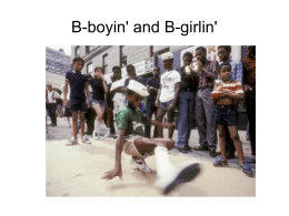 Bboying and Bgirling, October 30 and November 1