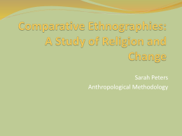Comparative Ethnographies - Facultypages.morris.umn.edu