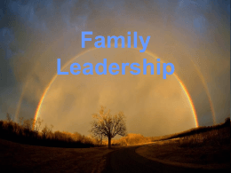 Family Leadership Lynne Elwell