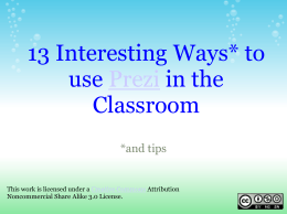13 interesting ways to use Prezi in the classroom
