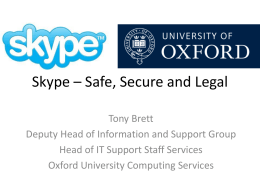 Skype – Safe, Secure and Legal