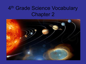4th Grade Science Vocabulary Chapter 2