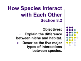 How Species Interact with Each Other (Section 8.2)