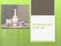 An Introduction to Still Life