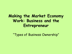 Making the Market Economy Work: Business and the Entrepreneur