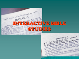 INTERACTIVE BIBLE STUDIES-1