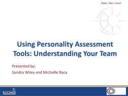 Using Personality Assessment Tools: Understanding