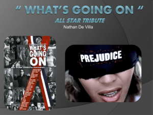 """ What`s Going On "" All Star Tribute"