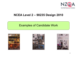 NCEA Level 2 - Design 2010 Exemplars