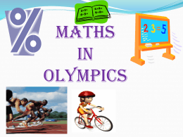 MATHS IN OLYMPICS