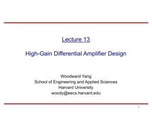 Lecture 10: Differential Amplifiers