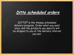 Ditto Delivery - Two Percent Concepts