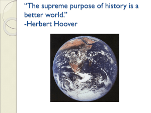 Why History? - North Thurston Public Schools