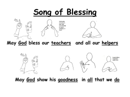 Song of Blessing - Lindon Bennett School