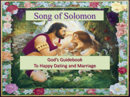 Song of Solomon - The Good Teacher