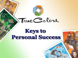 True Colors, Keys to Personal Success