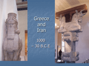 Chapter 4 Lecture - Iran and Greece