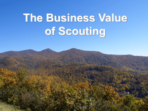 The Business Value of Scouting V3