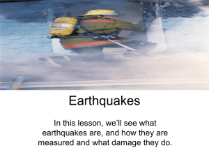 Earthquakes - West Monmouth School