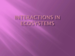 Lesson 5 Interations in Ecosystems