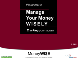 Manage Your Money Wisely - Powerpoint