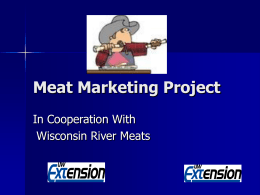 Meat Marketing Project 2010 (11 slides, 92 KB )
