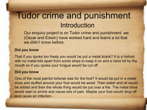 Tudor crime and punishment - Dulwich Hamlet Junior School