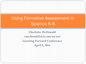 Formative Assessment in Science