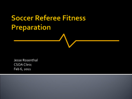 Soccer Referee Fitness Preparation