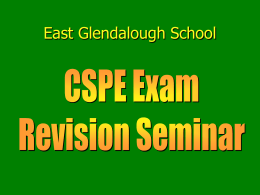 Revision seminar slideshow