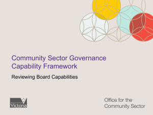 Community Sector Governance Capability Framework Facilitators