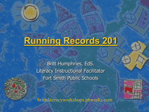 Running Records 201 - brittsliteracyworkshops