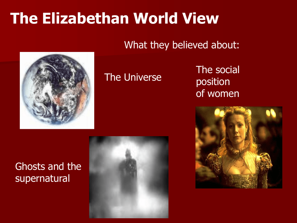 the elizabethan world picture summary