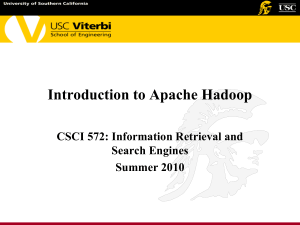 CSCI 572: Information Retrieval and Search Engines