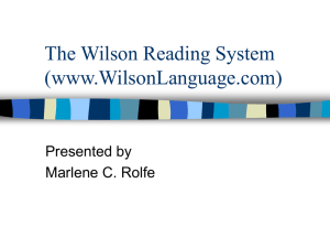 The Wilson Reading System (www.WilsonLanguage.com)