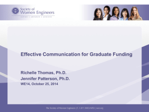 Effective Communication for Graduate Funding