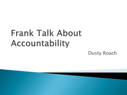 Frank Talk About Accountability