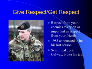 Give Respect powerpoint presentation