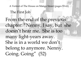 A Vertext of The House on Mango Street (pages 53-81)
