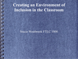 Stacie Weatbrook Diversity and Inclusion in the